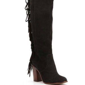 Gianni Bini NWT $169 Suede Fringe Designer Boots